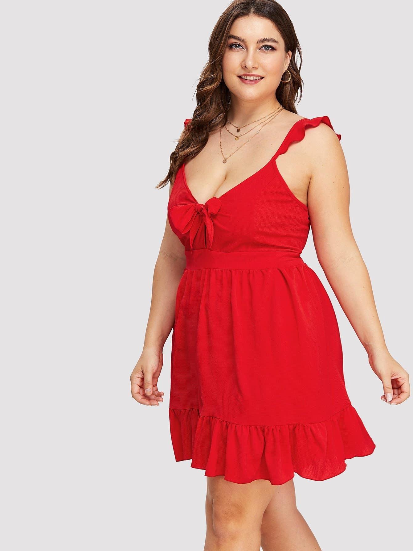 Купить Длинное платье с оборками, Franziska, SheIn