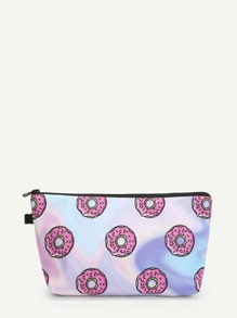 Doughnut Print Make Up Bag