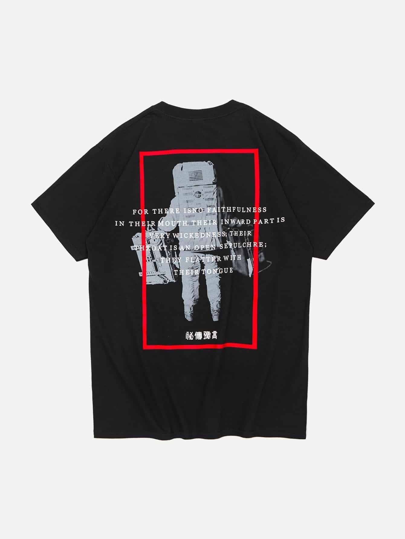 Men Astronut Graphic Back T-Shirt men architecture graphic back t shirt
