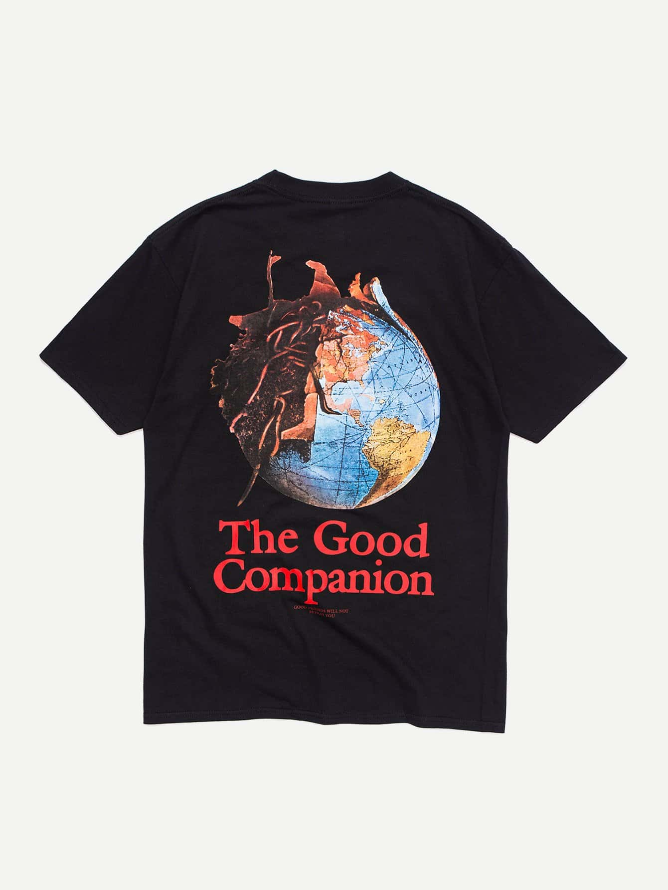 Men Earth Explosion Graphic T-Shirt men architecture graphic back t shirt