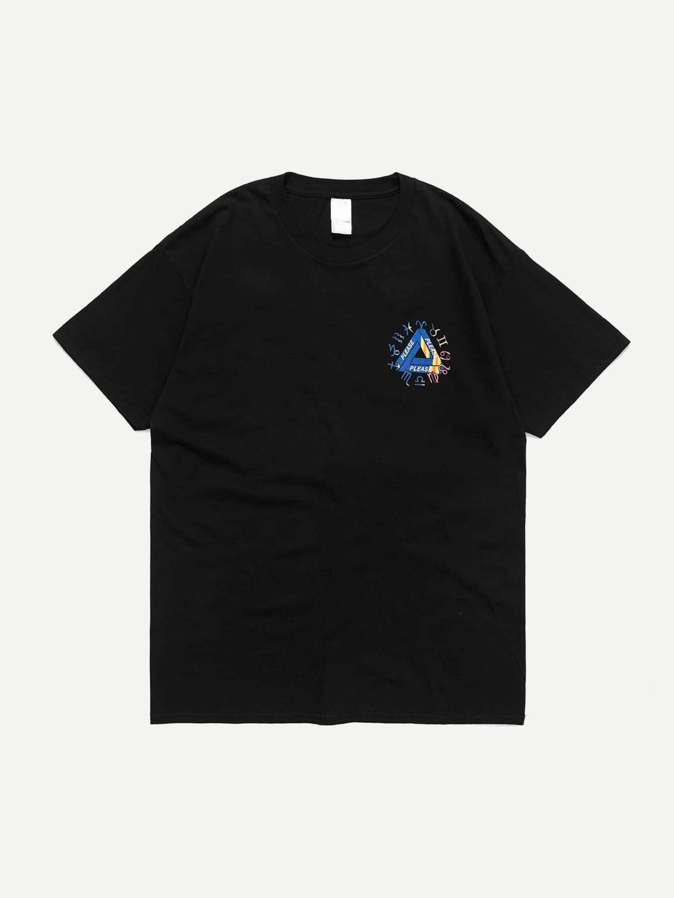 Men Constellation Graphic T-Shirt men architecture graphic back t shirt