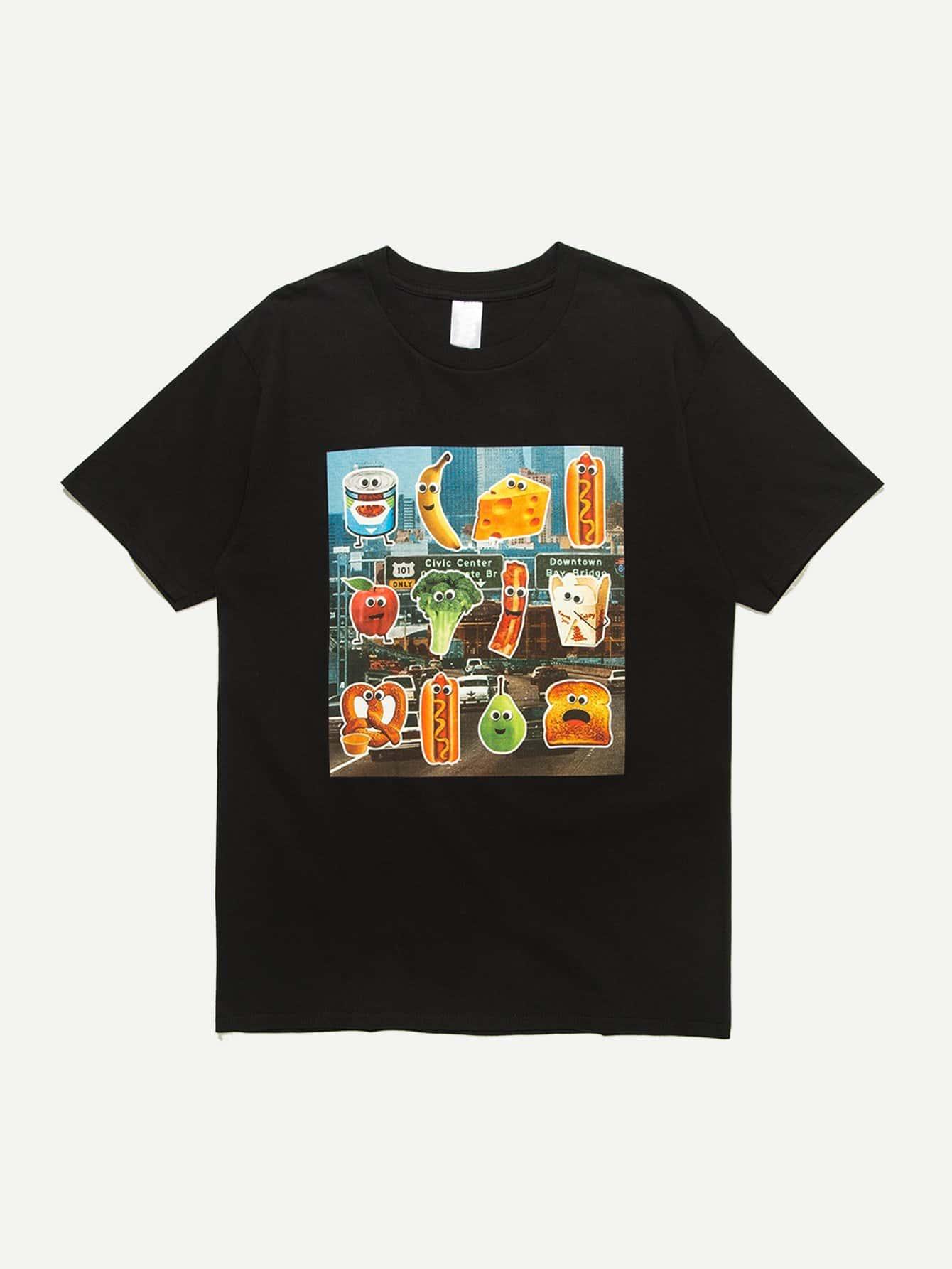 Men Funny Food Print T-Shirt lerro definition funny italian family name unisex t shirt
