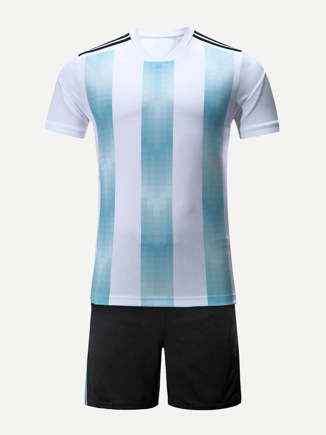 Men Argentina Footbal Host Team T-Shirt With Shorts soccer shirt uniforms 3a 15 16 15 16 argentina home away football shirt