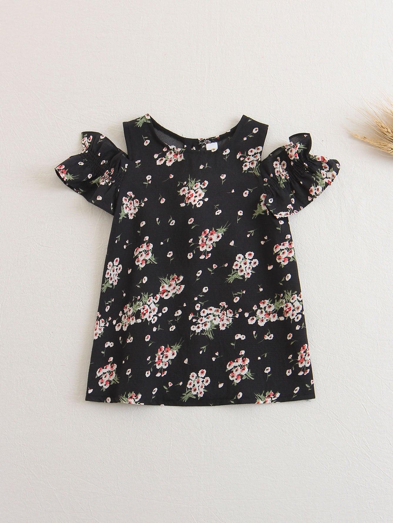 Kids Floral Cold Shoulder Dress степлер matrix 40901