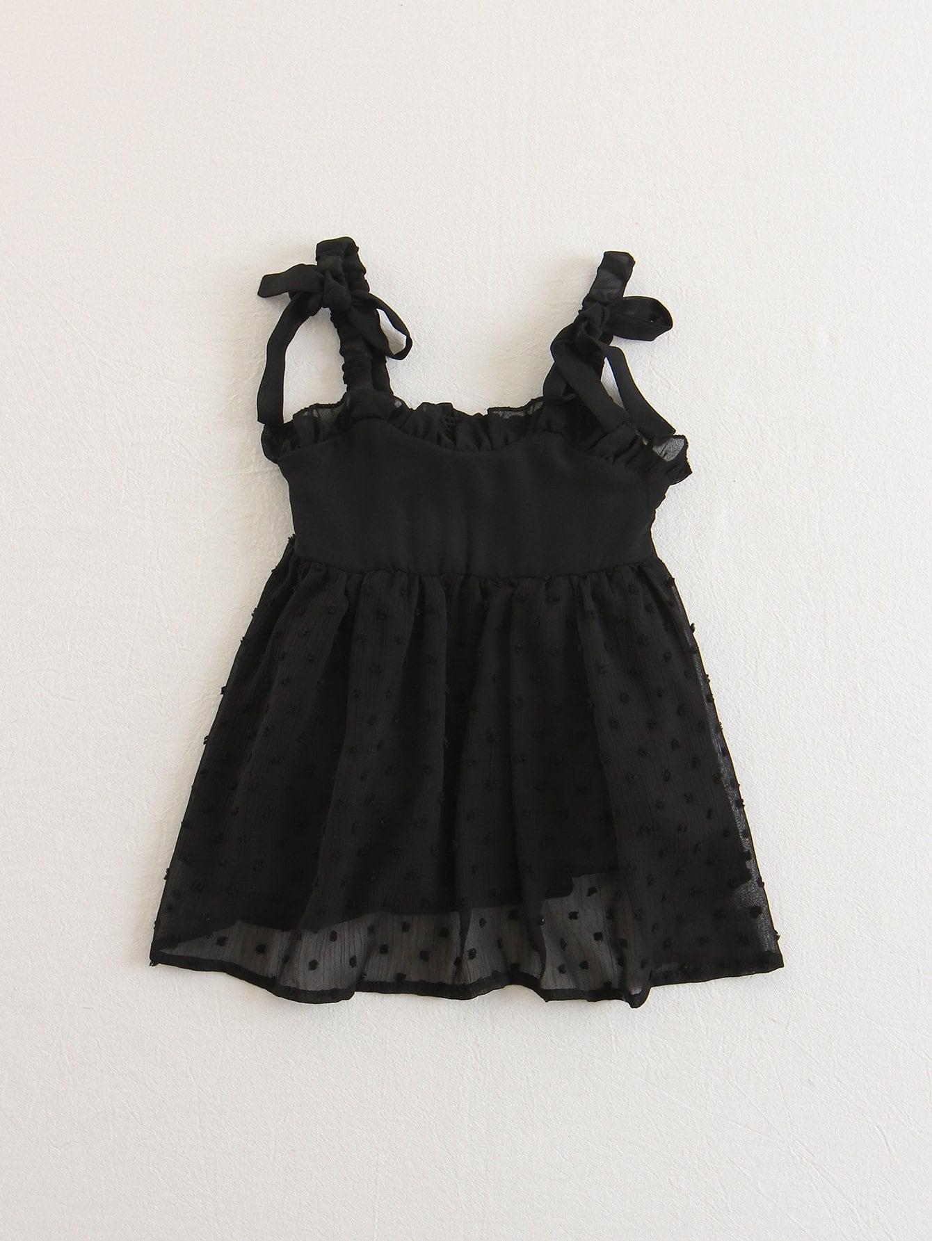 Купить Платье с прозрачным вставками и оборками для детей, null, SheIn