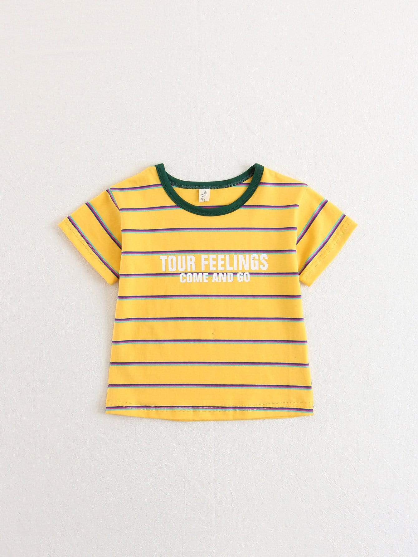 Kids Letter Print Striped Tee kids star and letter print striped blouse