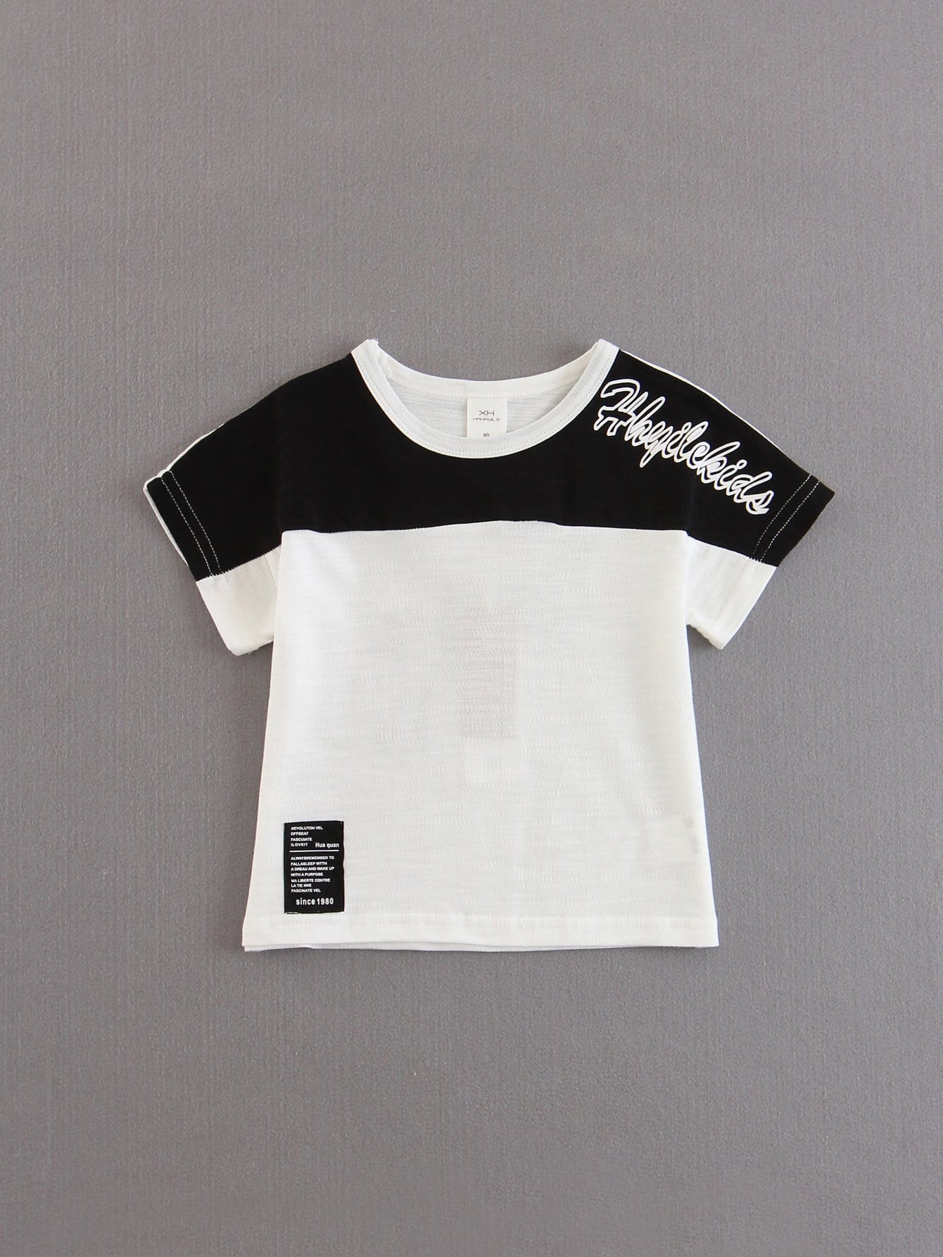Boys Color Block Letters Tee