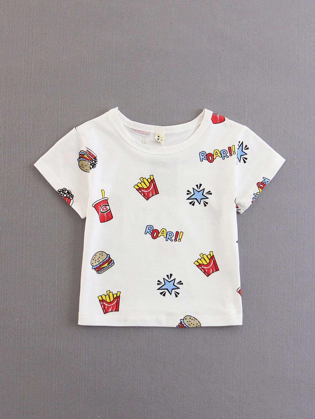 Kids French Fries Star Print Tee пуф french fries