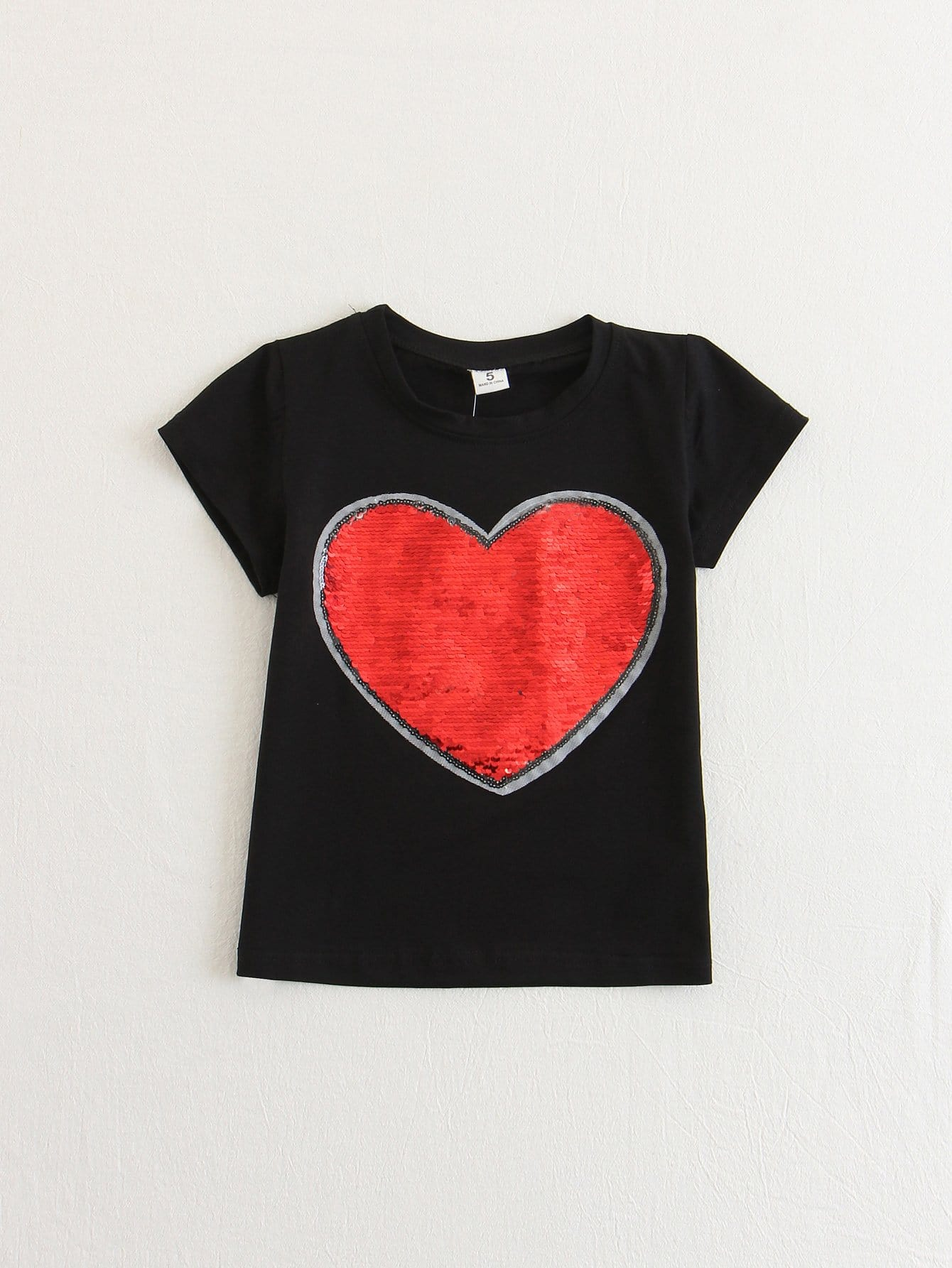 Girls Letters Sequin Tee larsson s the girl who played with fire