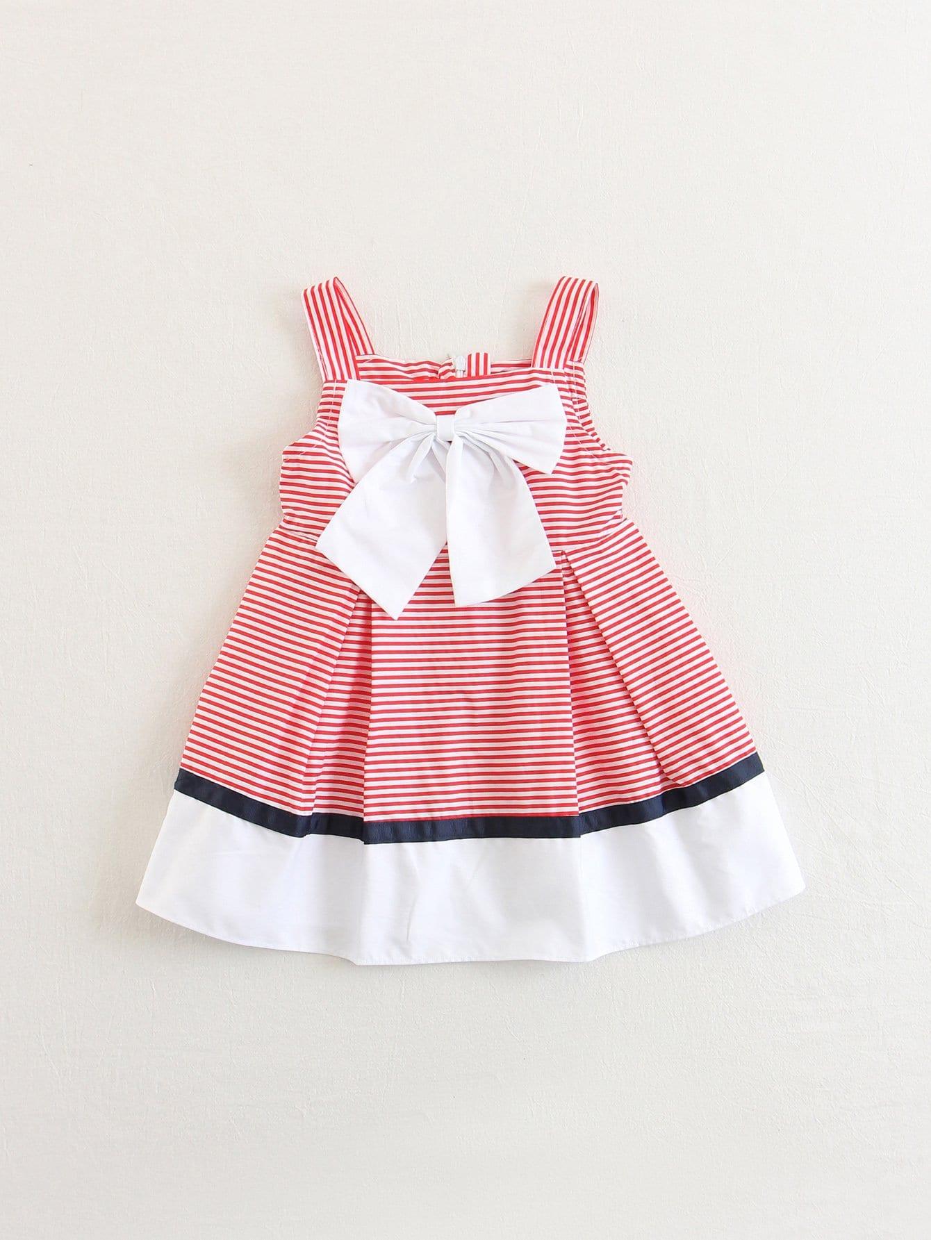 Купить Платье с полосками и бантиком для детей, null, SheIn