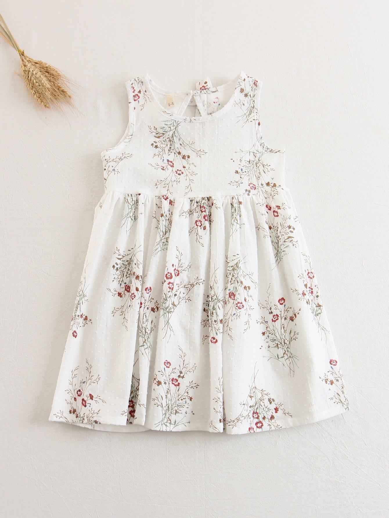 Купить Платье без рукавов в цветочек для детей, null, SheIn