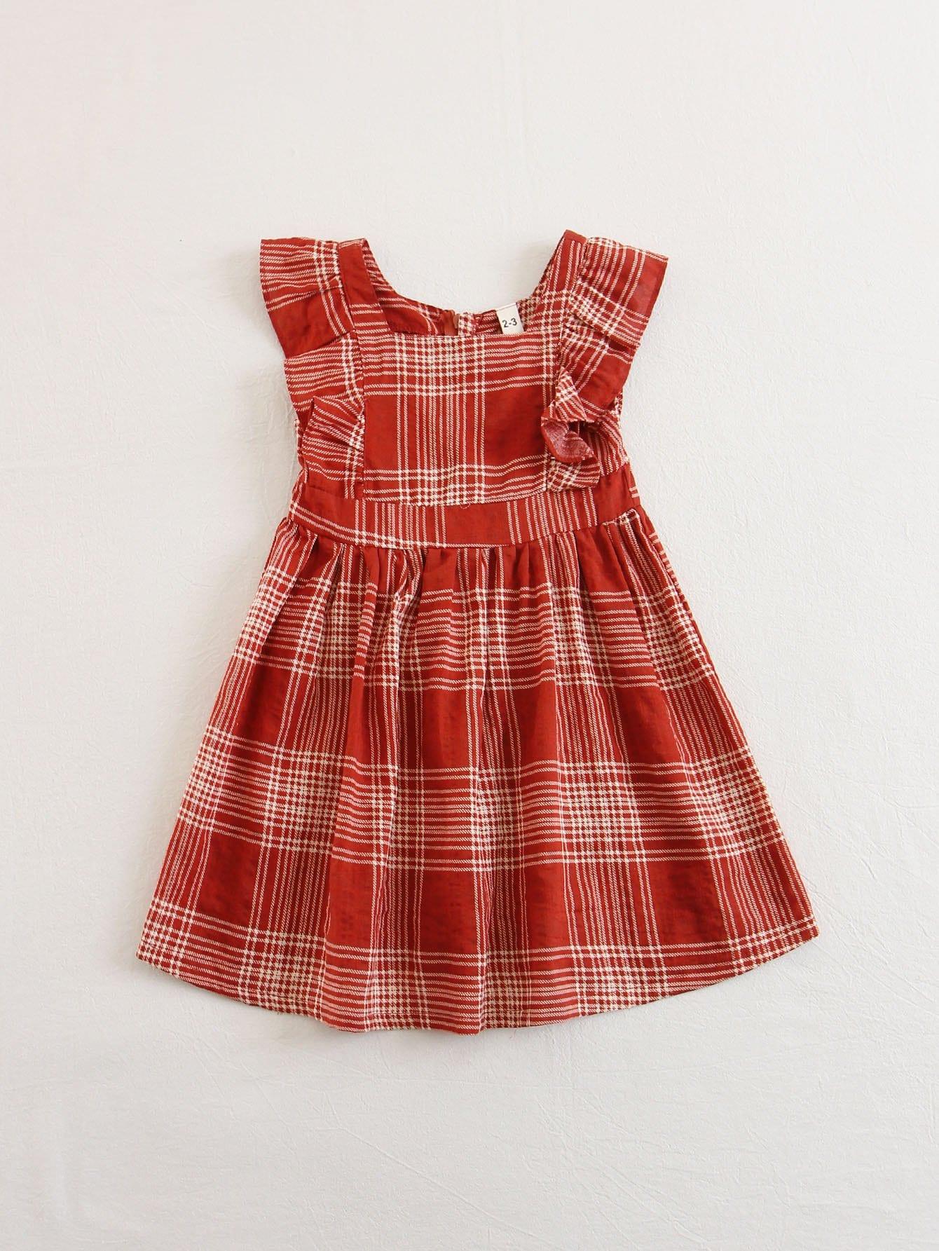 Купить Платье с оборками для детей, null, SheIn