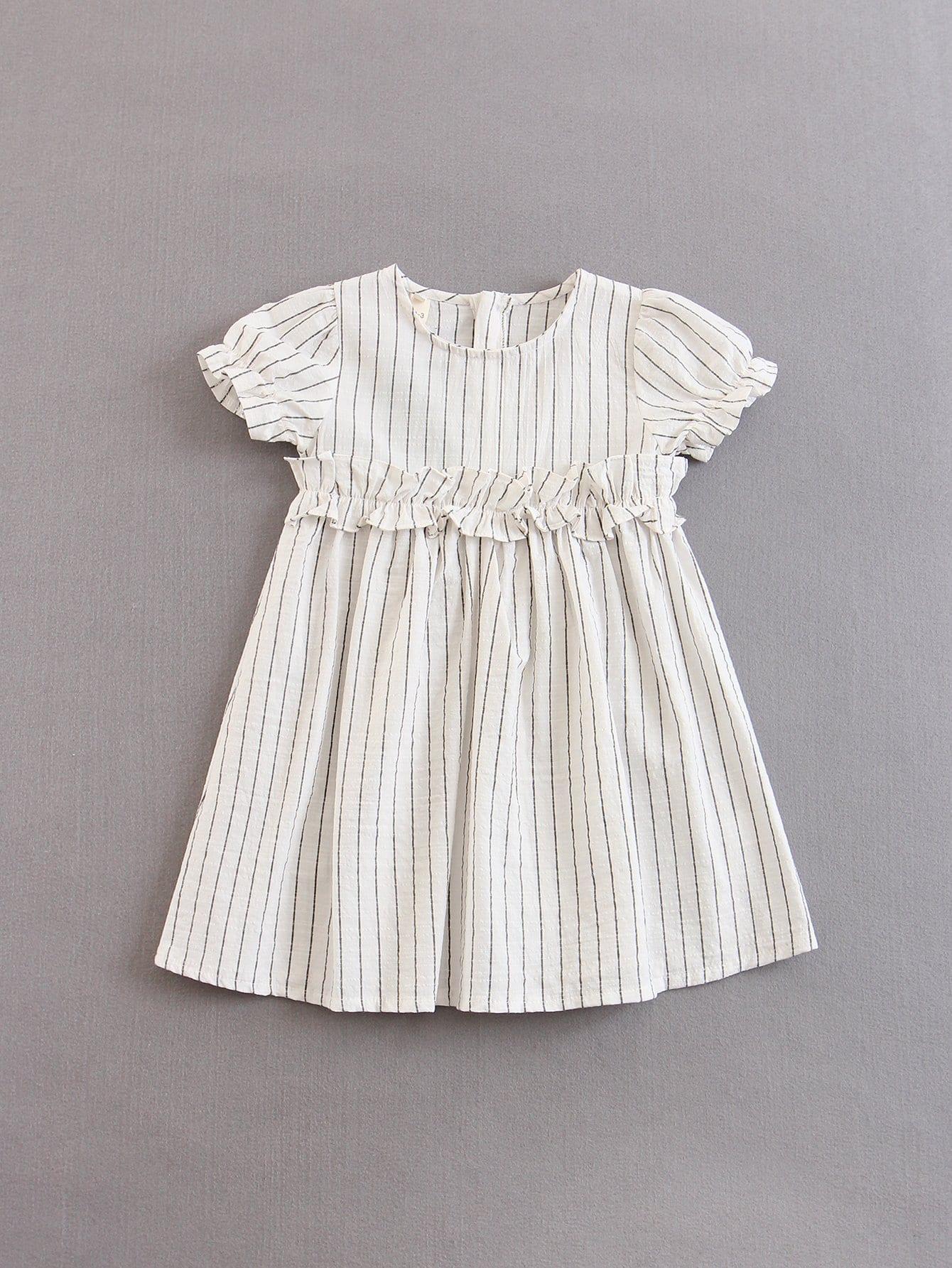 Купить Платье с полосками для детей, null, SheIn