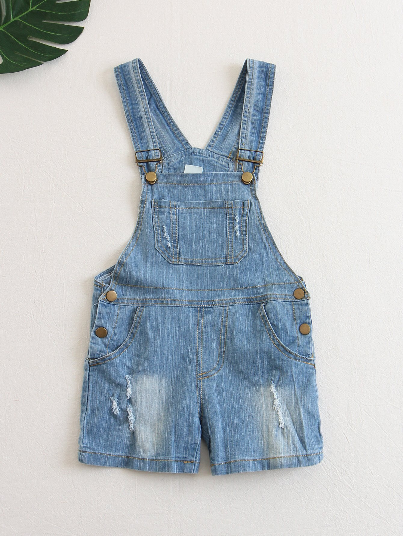 Pocket Front Denim Overall Shorts overall yumi overall