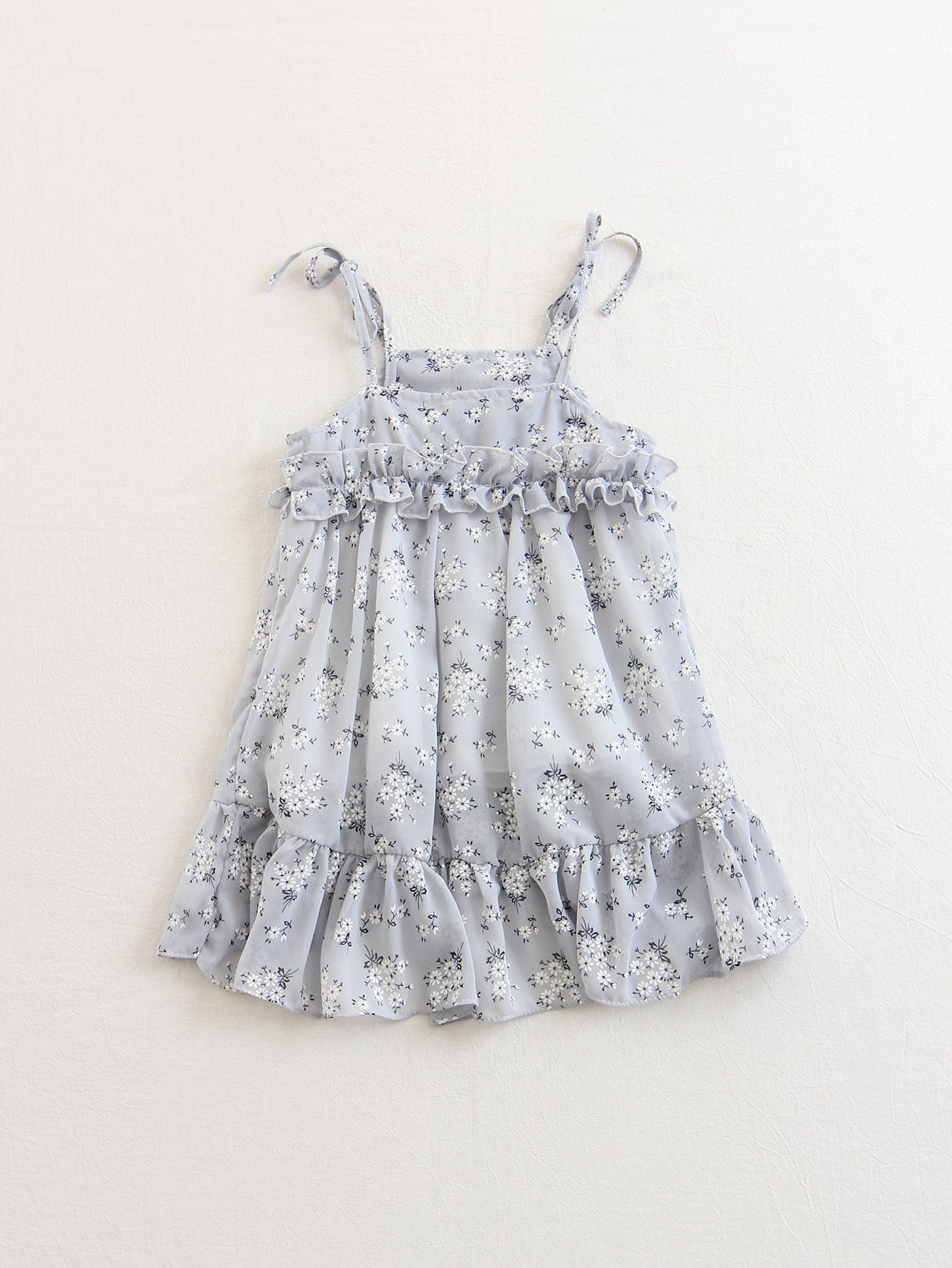 Kids Floral Print Slip Dress kids floral frill slip dress