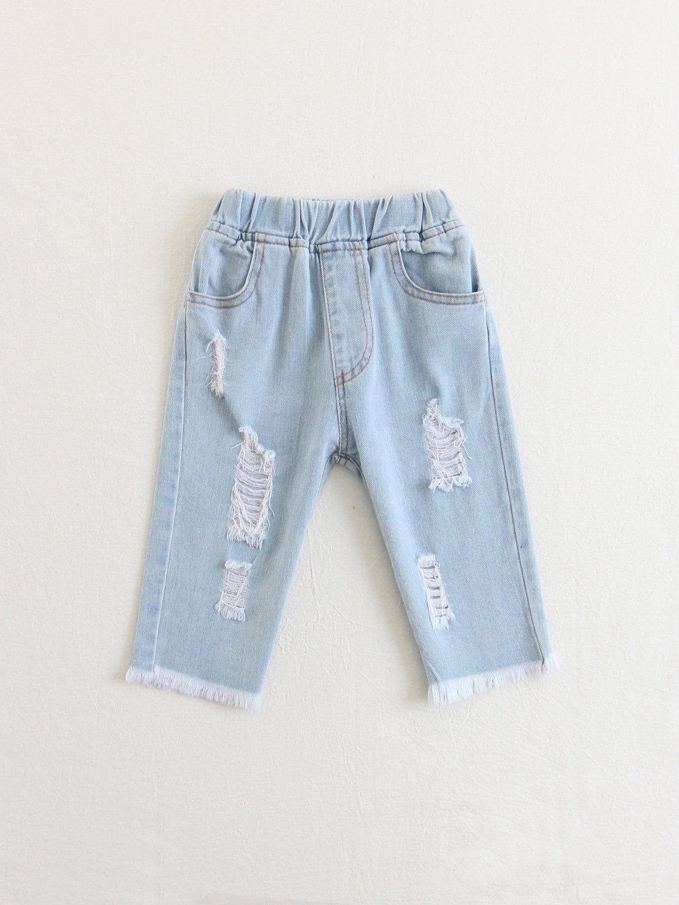 Рваные джинсы для детей, null, SheIn  - купить со скидкой