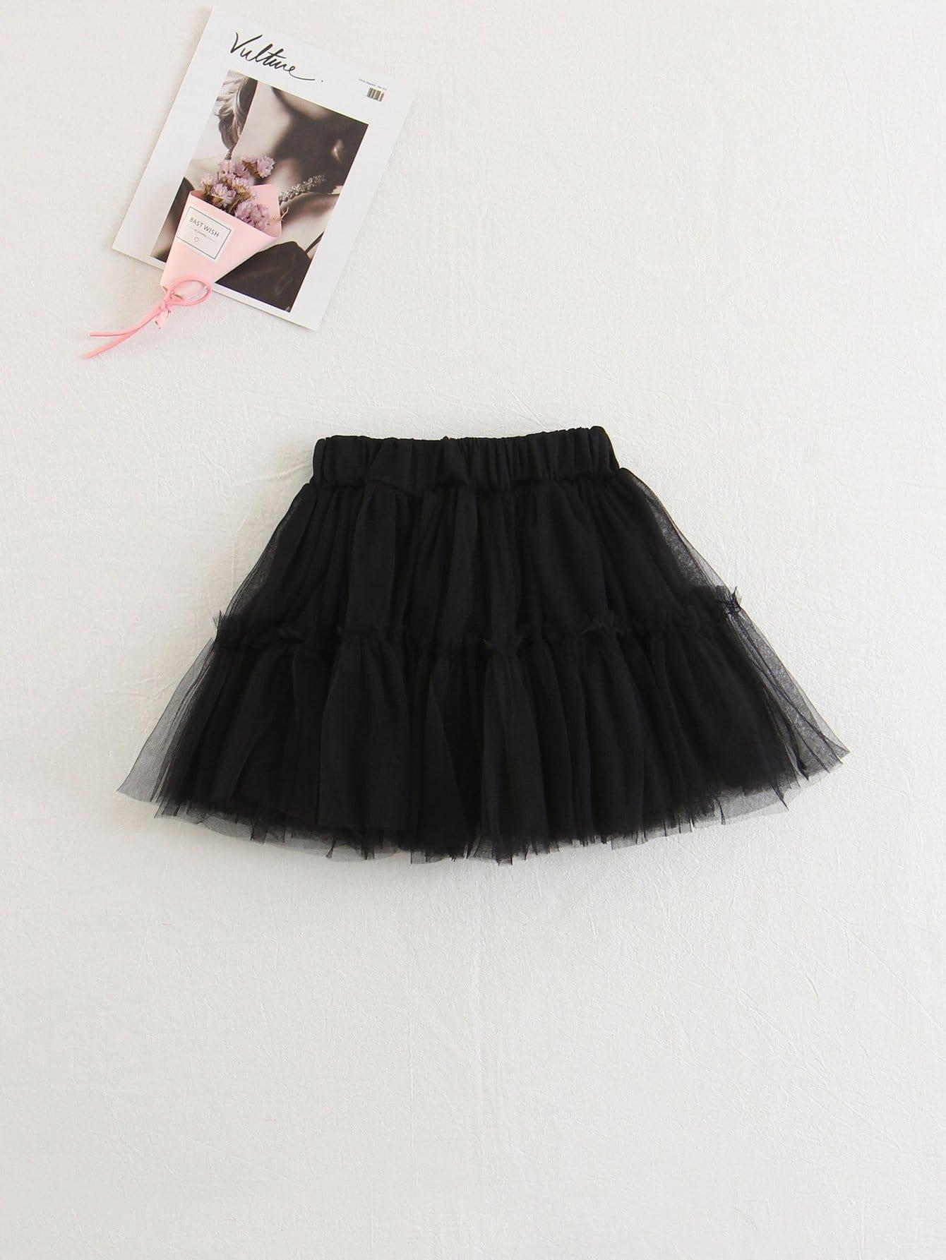 Купить Прозрачная юбка для детей, null, SheIn