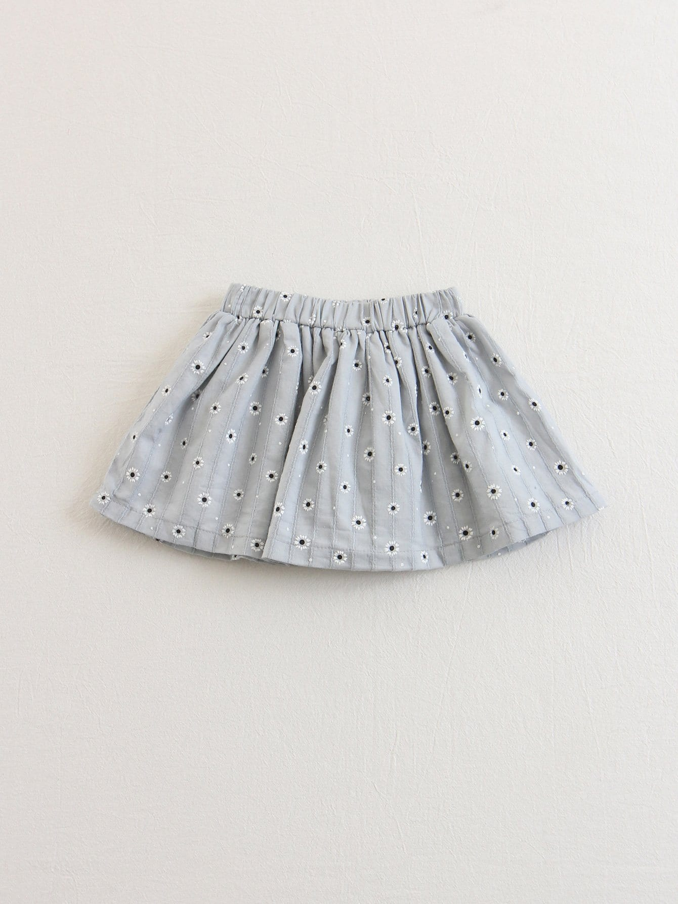 Kids Floral Elastic Waist Pleated Skirt bohemian high waist floral print skirt for women