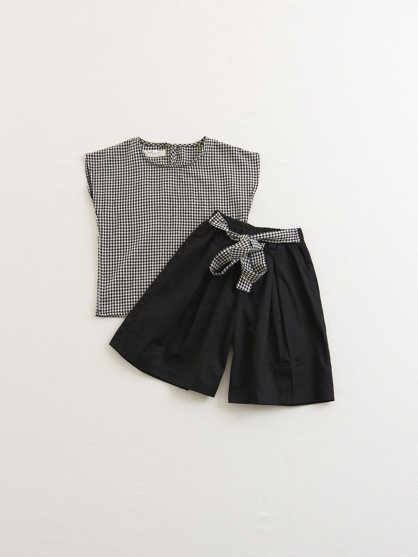 Kids Gingham Blouse With Pants все цены