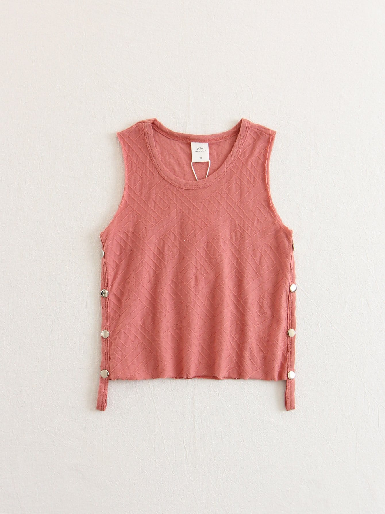 Boys Button Side Tank Top button front tank top
