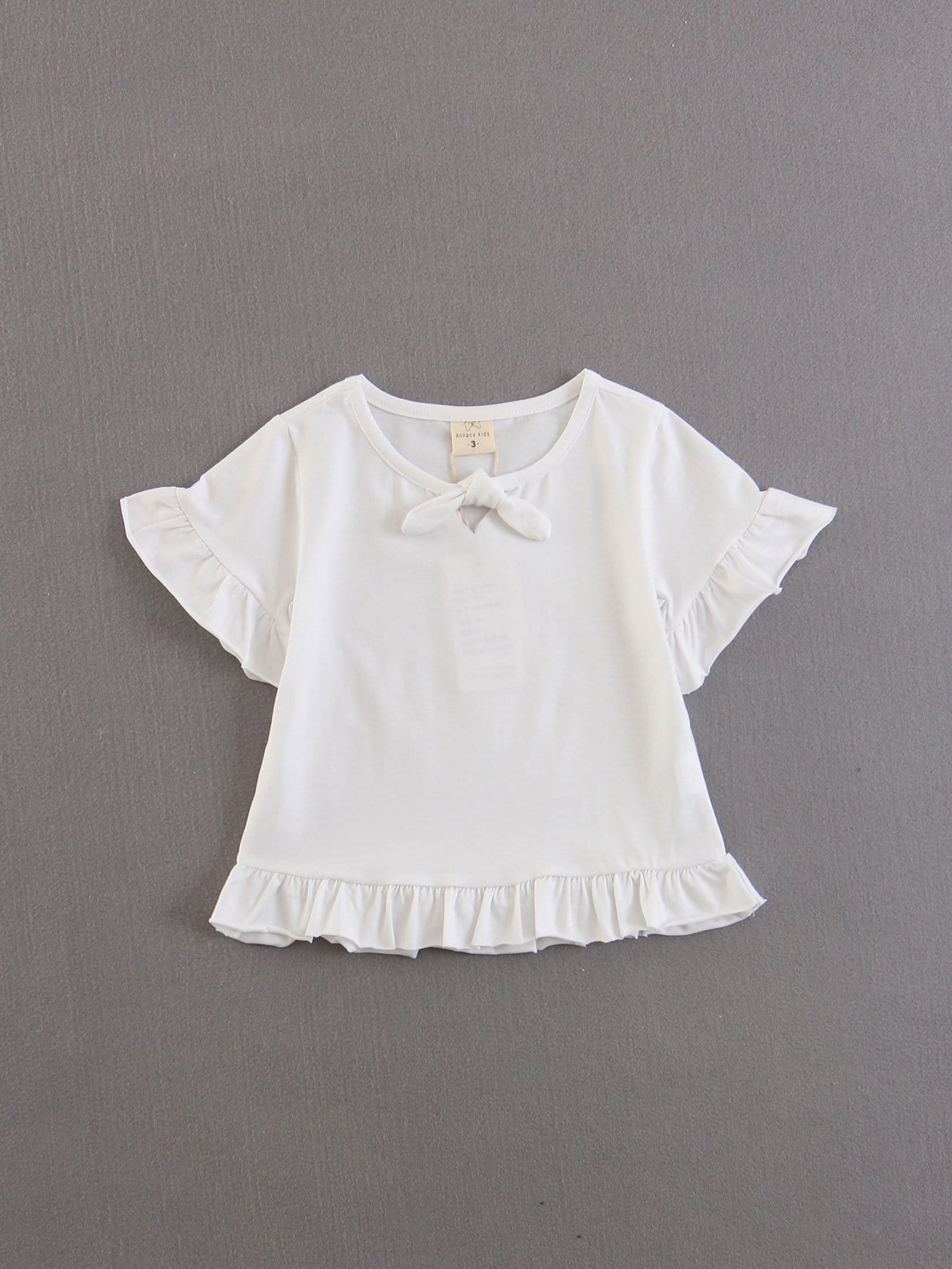 Kids Ruffle Hem Top mike86] mix b 207 20 30 b 207