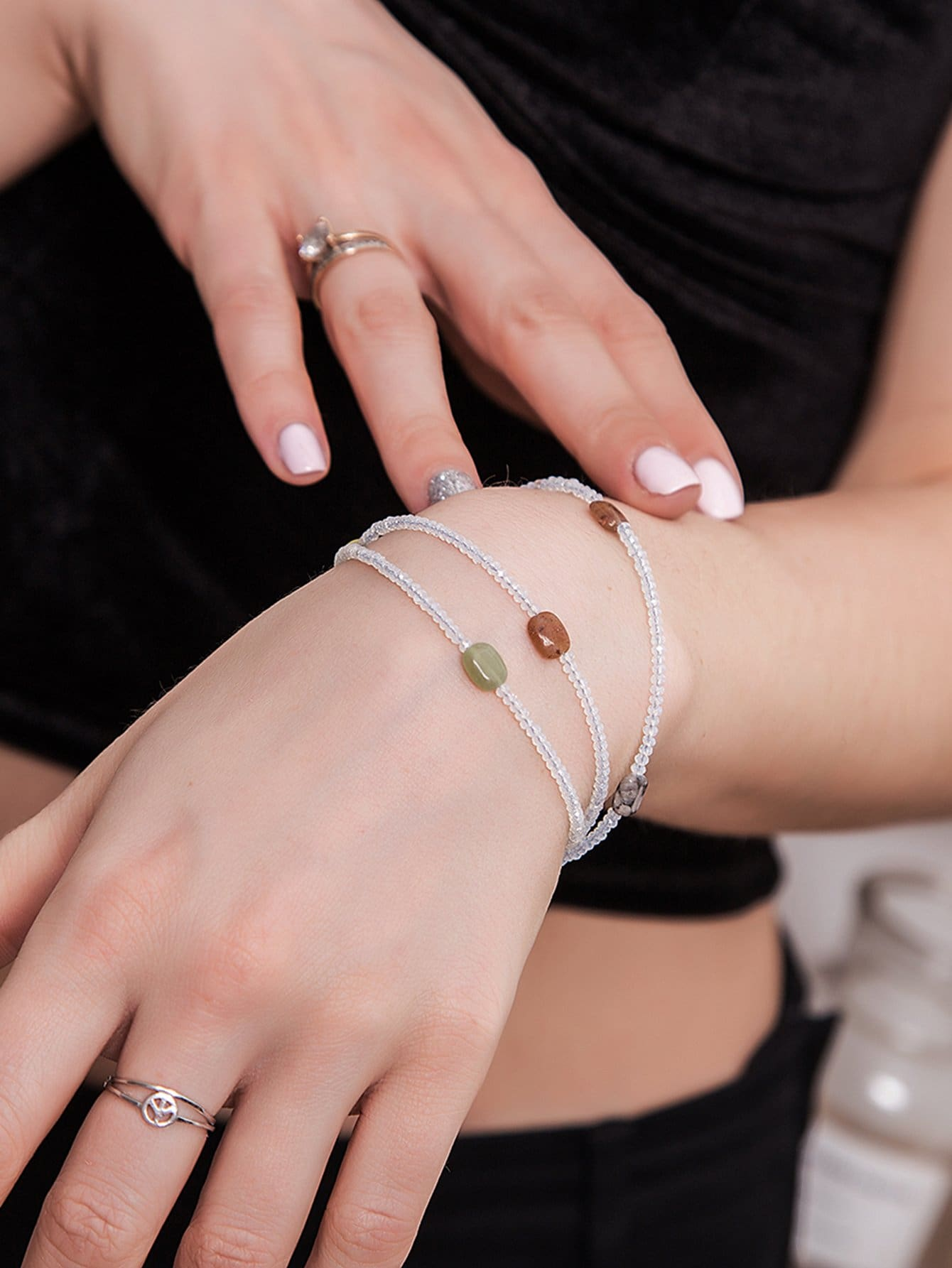 Wrap Around Beaded Bracelet