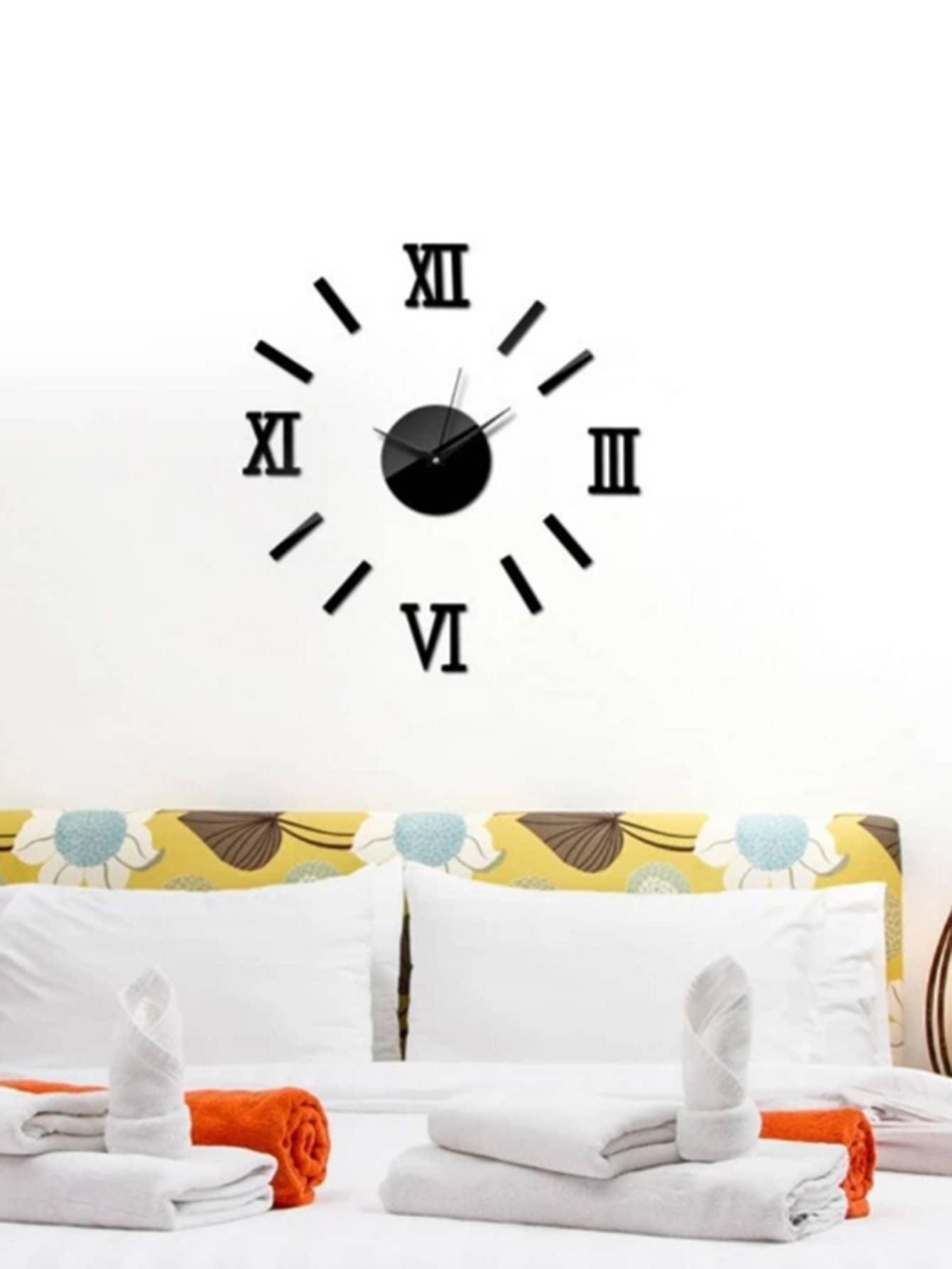 Купить Часы дизайн зеркало стены стикер, null, SheIn