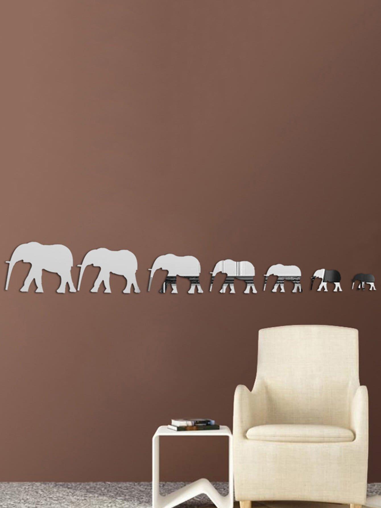 Купить Слон зеркало стены стикер, null, SheIn