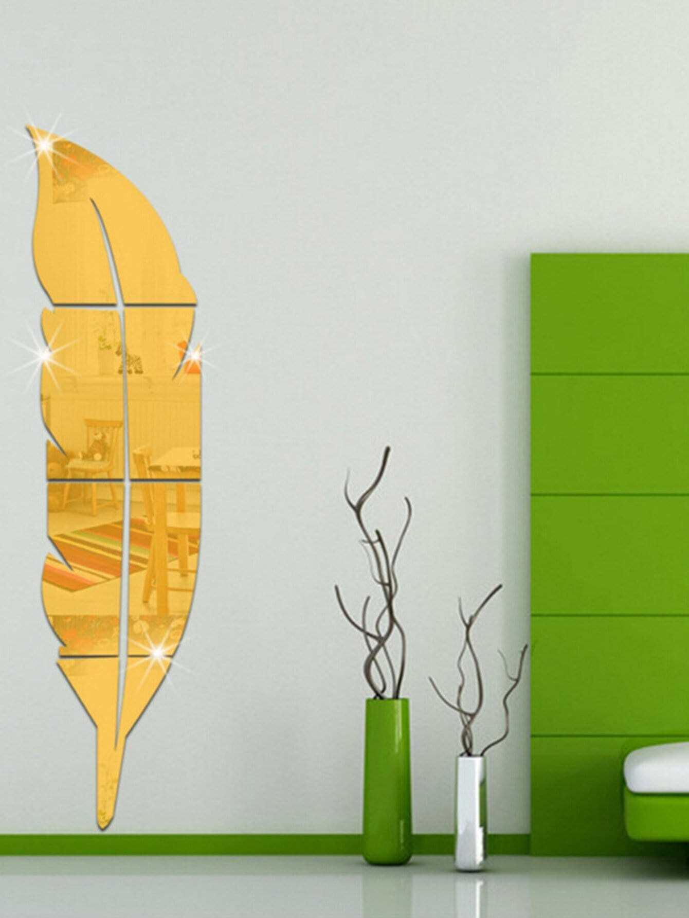 Feather Mirror Wall Sticker