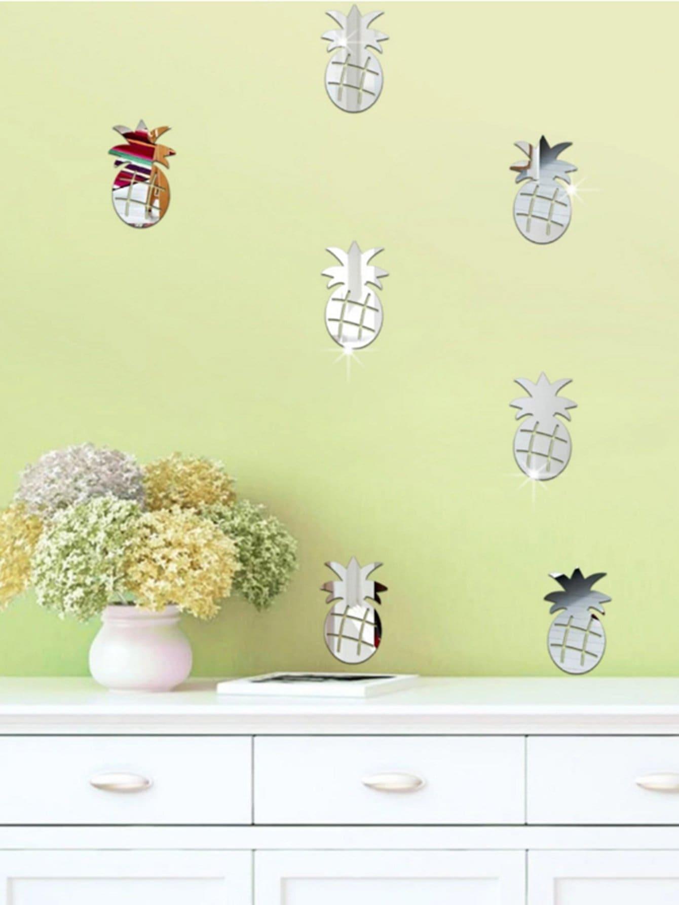 Pineapple Mirror Wall Sticker Set 24pcs