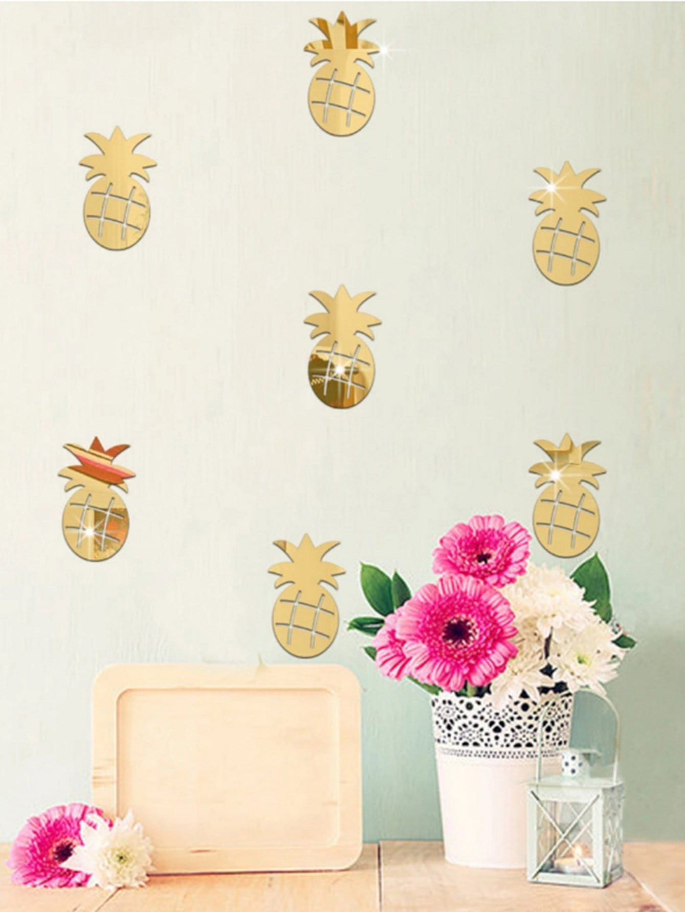 Pineapple Mirror Wall Sticker Set 24pcs 14 wxga glossy laptop led screen for hp pavilion g4 2149se