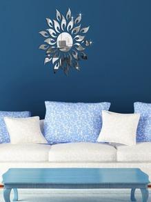 Sun Design Mirror Wall Sticker 27pcs