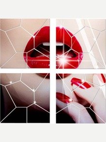 Geometric Mirror Wall Sticker 7pcs