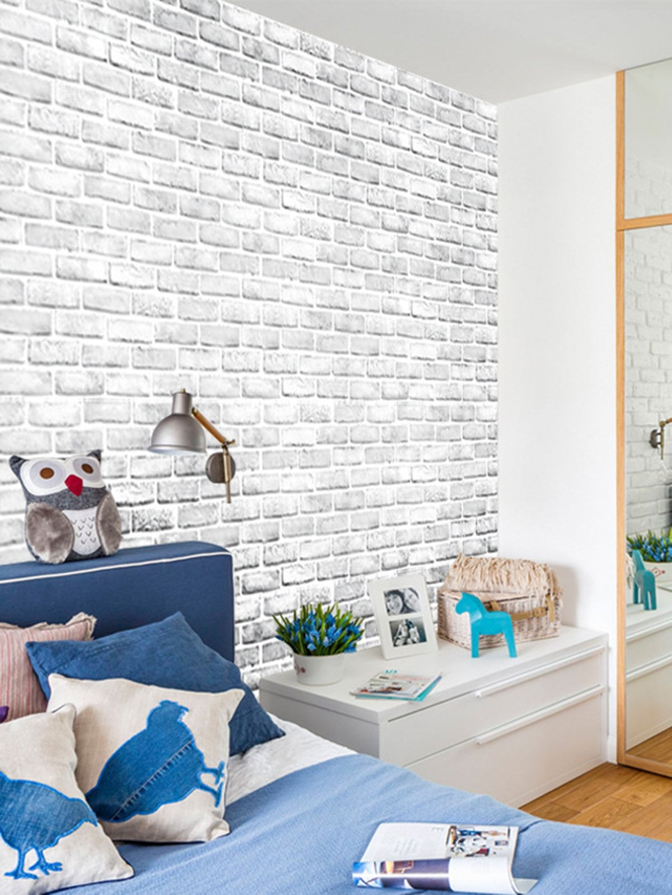 3D Self-adhesive Brick Wall Sticker