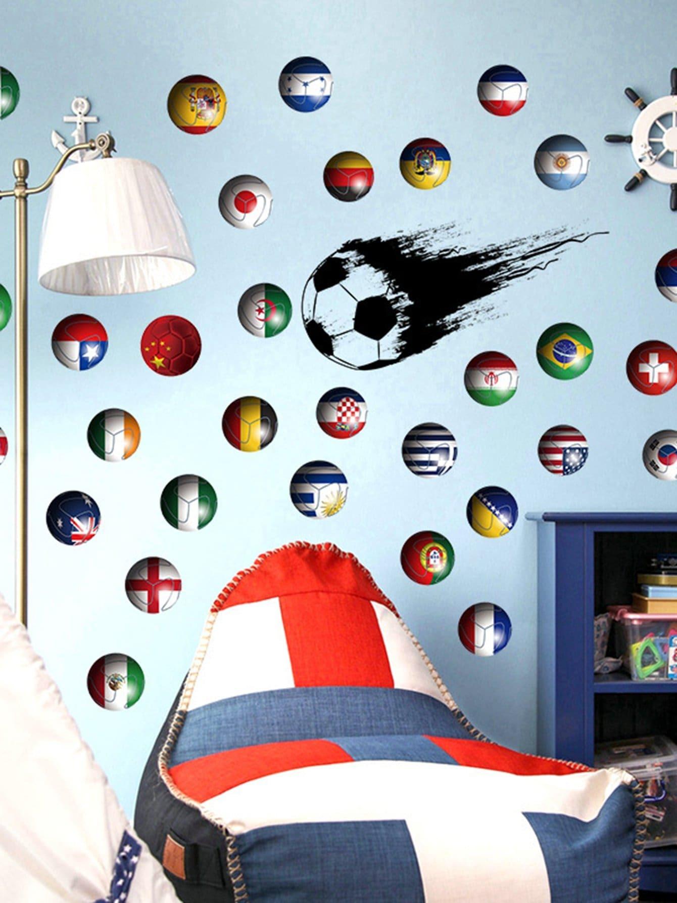 3D - спорт мяч стены стикер
