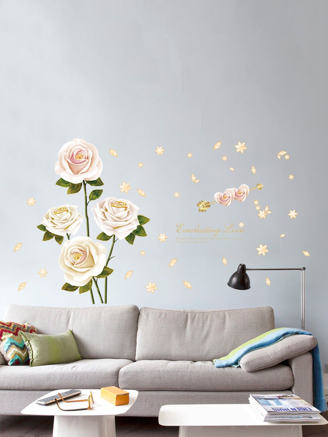 Floral Pattern Wall Decal floral girl wall decal
