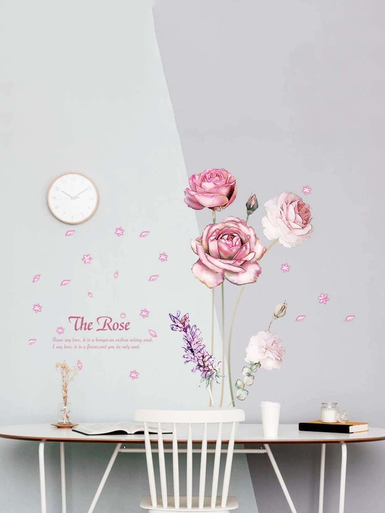Floral Pattern Wall Decal concrete countertops