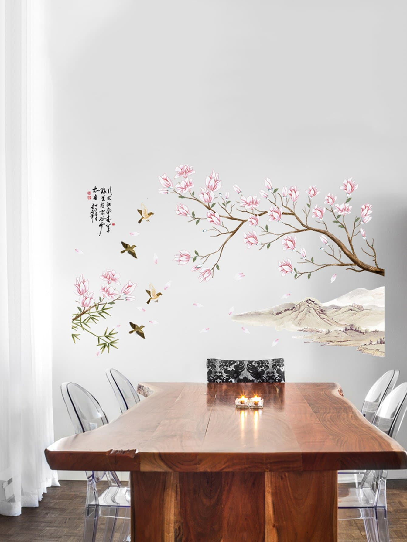 Self-adhesive Floral Blossom Tree Wall Decal floral girl wall decal