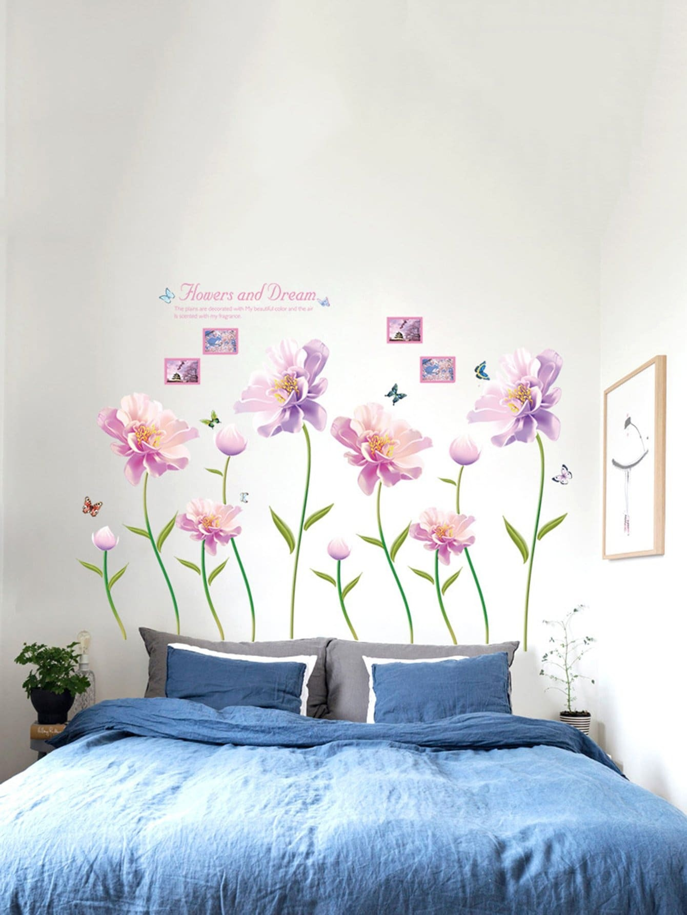 Floral Pattern Wall Decal double wine wall decal