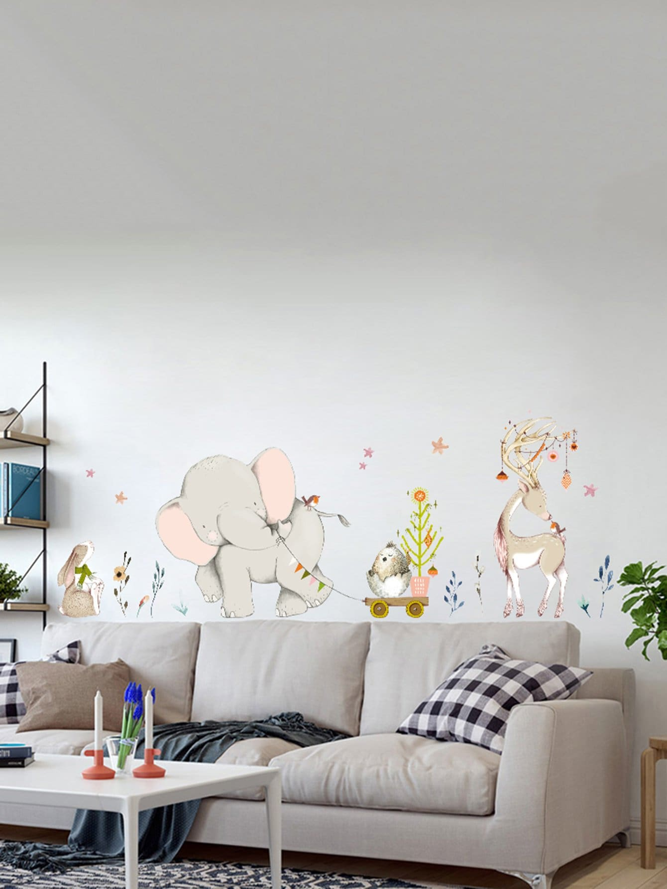 Animal Pattern Wall Decal cactus wall decal