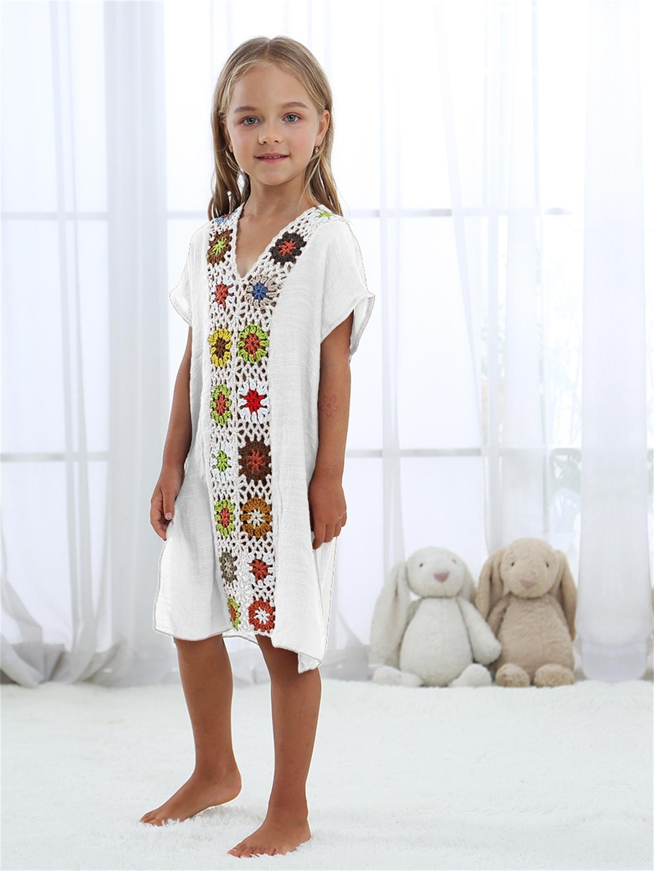 все цены на Crochet Trim Kids Cover Up