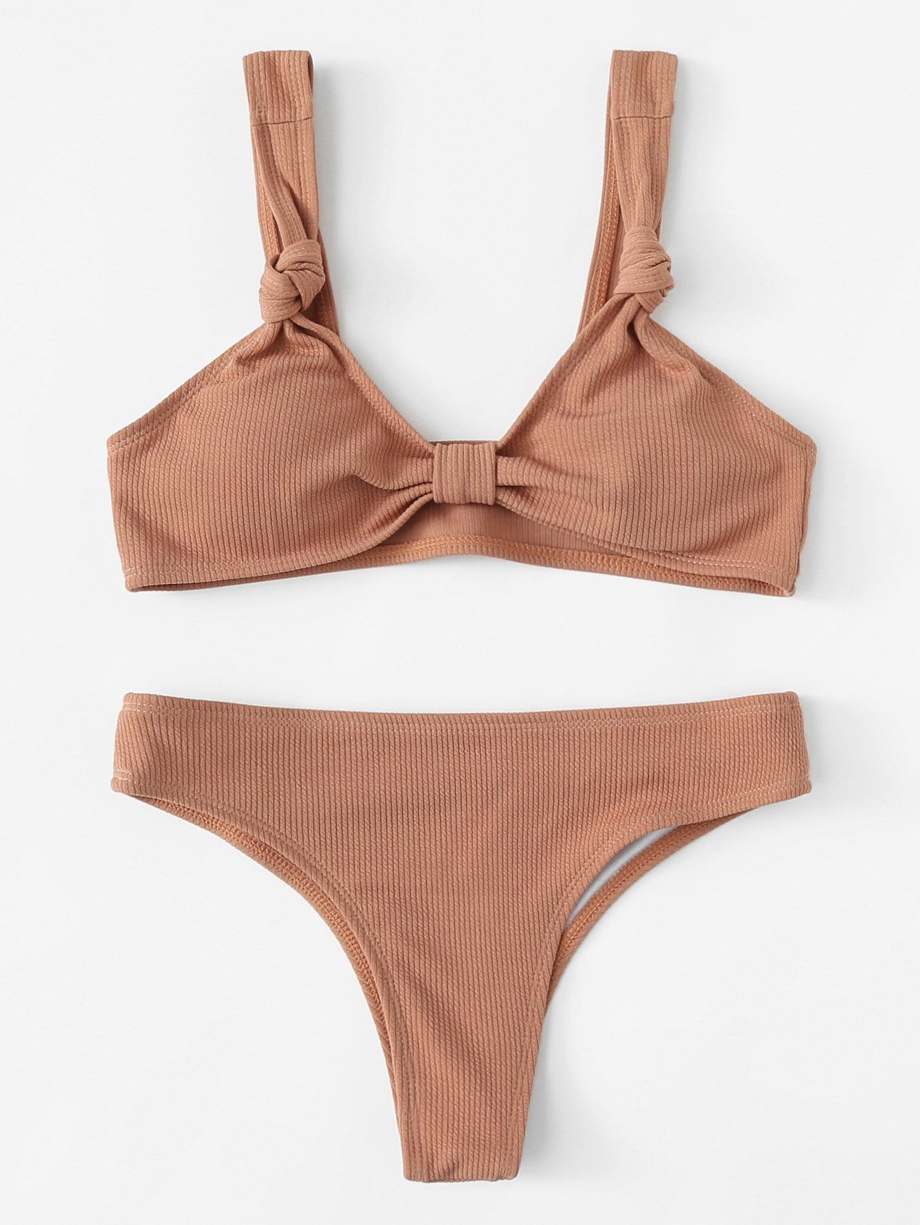 Фото Knot Straps Bikini Set checker knot bikini set