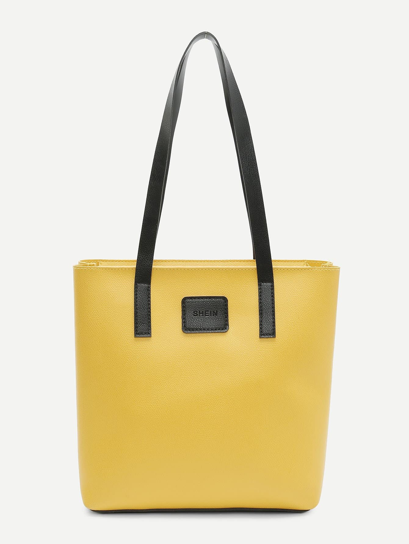 Shein Logo Tape Tote Bag