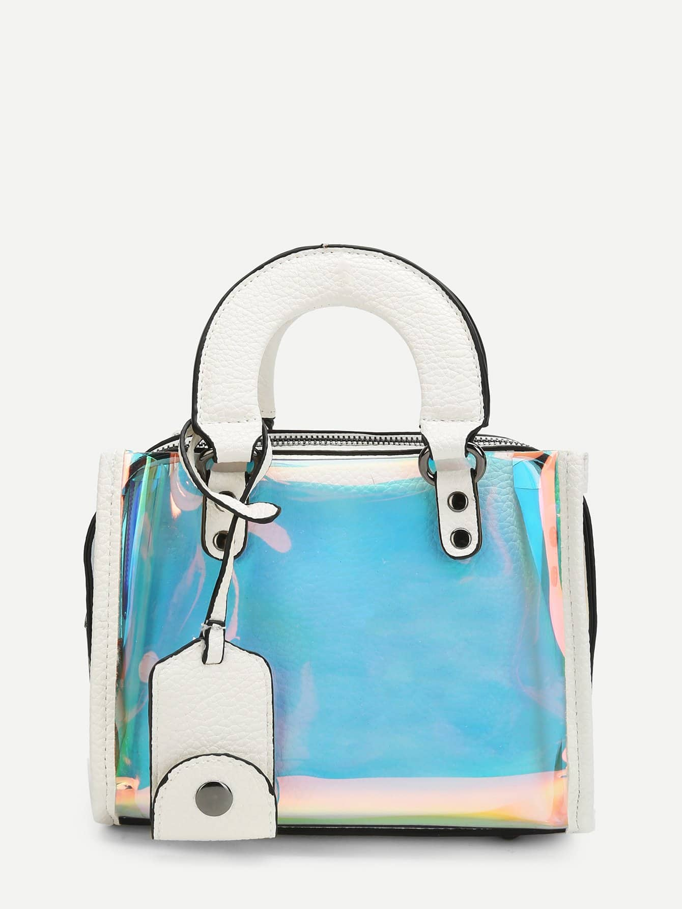 Фото - Double Handle Iridescence Tote Bag sequin tote bag with double handle