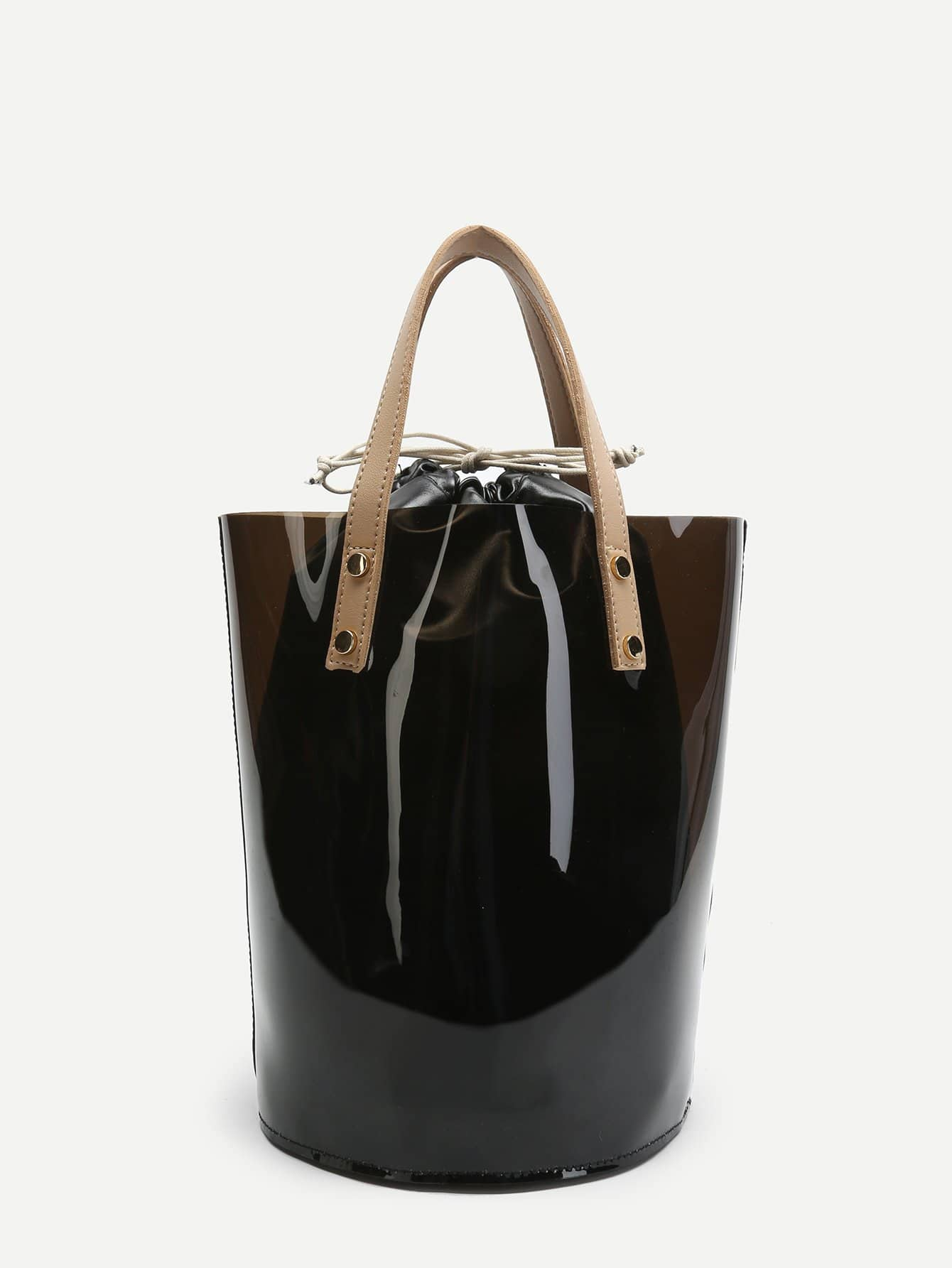 Фото - Double Handle Drawstring Tote Bag sequin tote bag with double handle