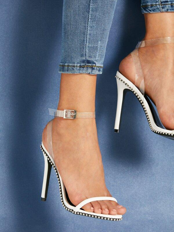 Clear Strap Heels by Sheinside