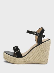 Ankle Straps Espadrille Wedges