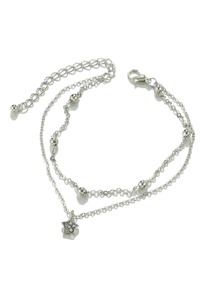 Star Charm Layered Chain Anklet