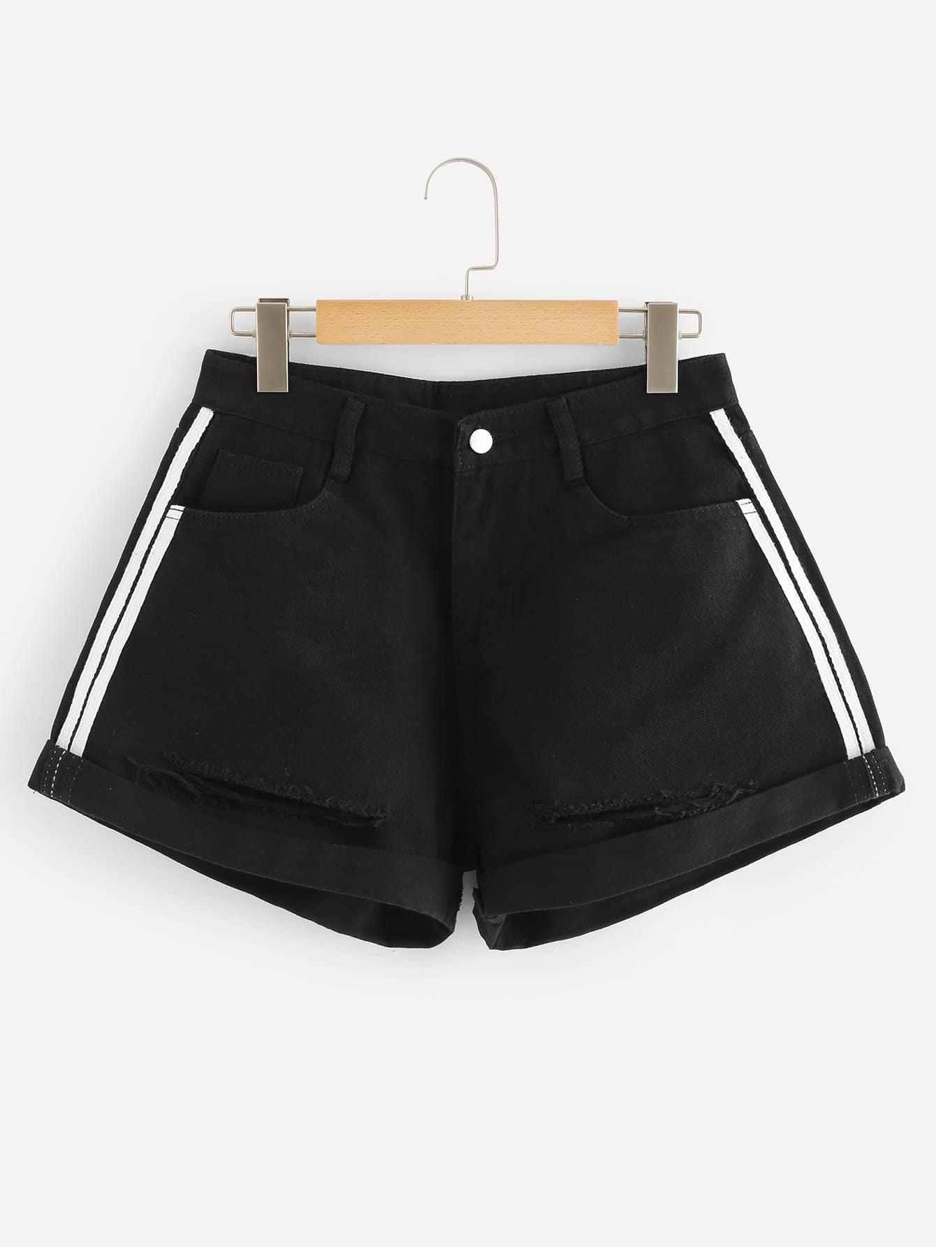 Короткие джинсовые шорты SheIn