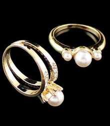 Diamante Bead Ring